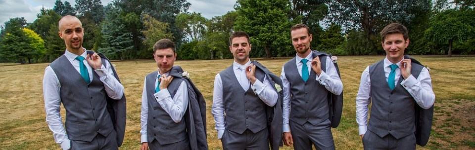 Gray suit hire