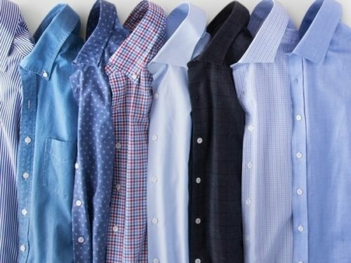 Dry cleaning colored shirts