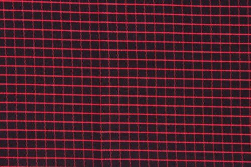 Graph check shirt (red lines on black)