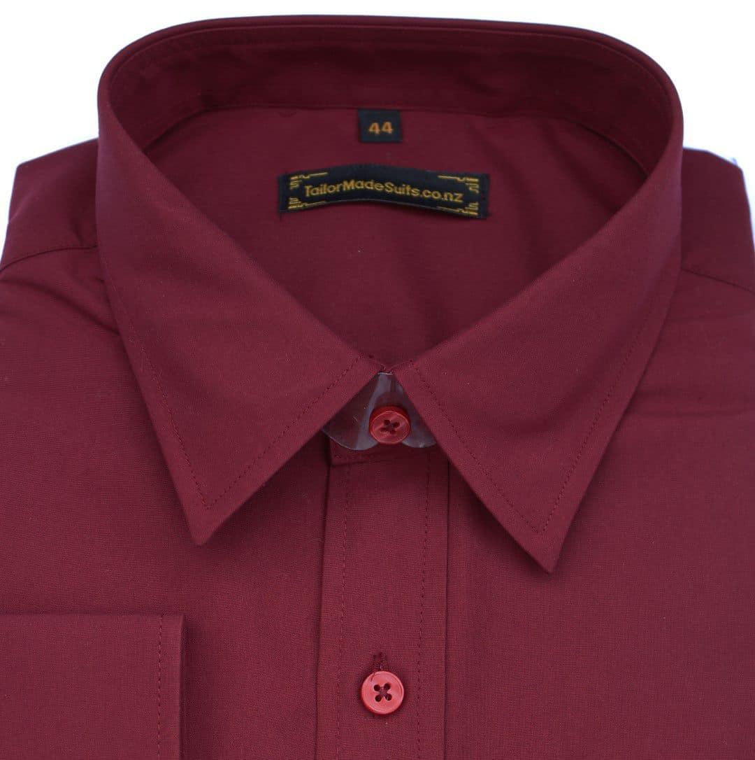 Plain burgundy shirt – Ready to wear