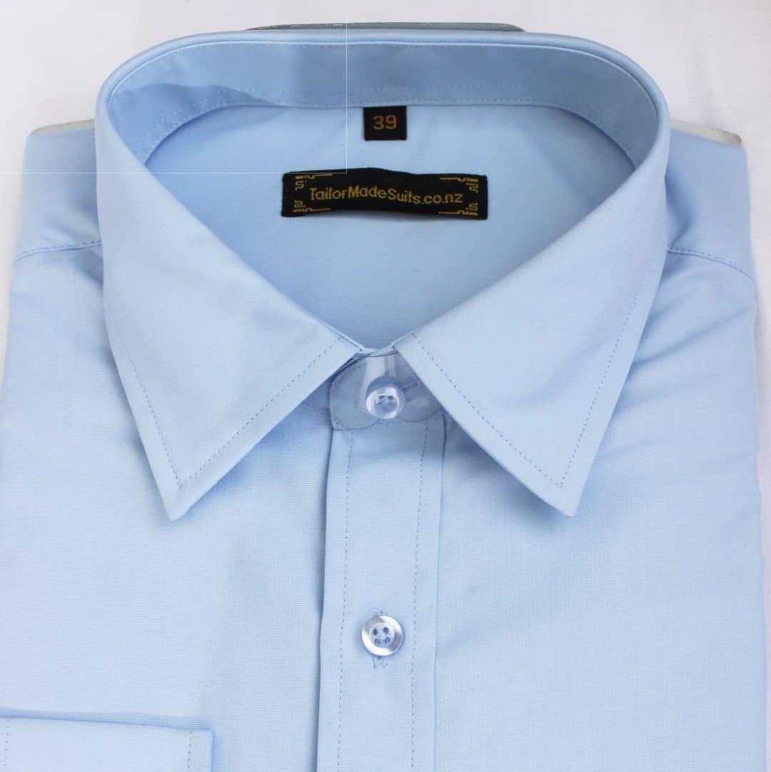 Plain light blue shirt – Ready to wear