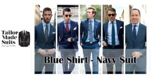 blue shirt navy suit TMS tailor made auckland hamilton affordable