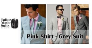 pink shirt grey suit TMS tailor made auckland hamilton
