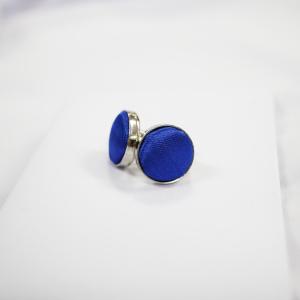 Round Shaped Blue Cufflinks