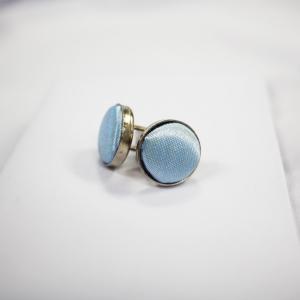 Round Shaped Light Blue Cufflinks
