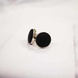 Round Shaped Black Cufflink