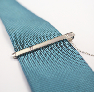 Silver Tone Stainless Steel  Tie Clip