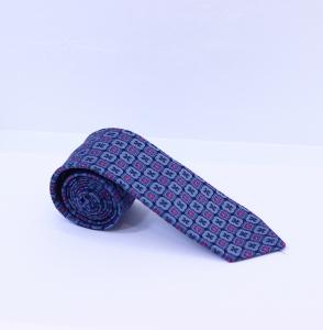 Fellini Blue & Pink Patterned Tie