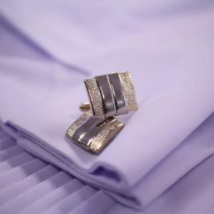 Petal Gold Stainless Steel Cufflinks
