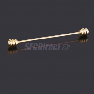Golden Tone Stainless Steel Collar Bar